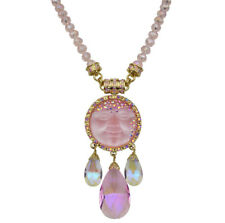 Kirks Folly Crystal Goddess 35mm Seaview Moon Interchangeable Magnetic Necklace