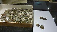 4x Fossil button  Ammonite 3cm