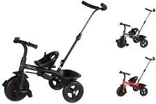Kinderdreirad Dreirad Korb 2in1 lenkbarer Schiebestange Fahrrad Trio Clamaro
