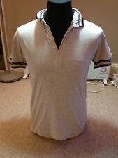 Firetrap Polo Shirt Beige Adult  Medium Multi Tipped Collar (P 616)