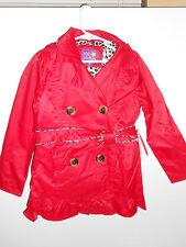 NEW Pink Platinum Girls' Double Leopard Jacket Rain Coat Red Sz 6X Lined