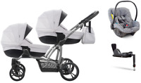 Double Stroller Bebetto 42 3in1 or 4in1 for twins - 6 car seats models to choose