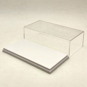 Hand Made Car Model Acrylic Case Display Box Cover Transparent Dust Proof 20cm
