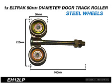 1x Eltrak Shed Door Track Roller 4 Wheel Steel Carriage 50mm Diameter Wheels
