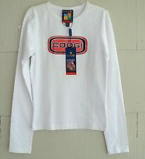 COOGI Australia Sport Long Sleeve Crew Neck Tee-T-Shirt-White/Red Emblem-S-NWT