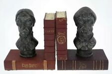 Disney Parks HAUNTED MANSION Bust BOOKENDS Set Of 2 NEW