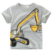 Kinder Jungen Mädchen Kurzarm T-Shirt Sommer Freizeit Top Kurzarmshirt Hemd Tee