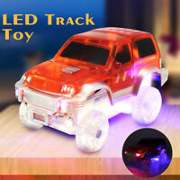 Magic CAR Toy LED Flash Track Glow in the Dark Light Up Bend Flex Racetrack Gift