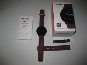 Polar Unite Waterproof Fitness Watch Plum 4B Silicone Band EXCELLENT Condition