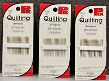 *Rare* PIK Gold Eye sz.9 Quilting Needles Betweens 3 Pks x 20=60.NIP