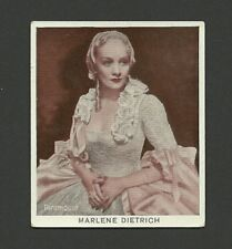 Marlene Dietrich 1934 Movie Film Star Cigarette Card from Germany #22