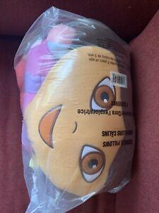 """Jumbo Large 25"""" Plush Cuddle Pillow Dora the Explorer w/HEART MAP Backpack Rare!"""