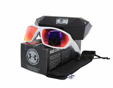 NEW Under Armour Rage White / Light Grey Infrared 8600103-110951 Suglasses