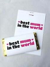 BEST MUM IN THE WORLD MOTHERS DAY GIFT GALAXY CHOCOLATE BAR WRAPPER