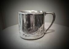 RARE 1930'S WONDERFUL WINNIE THE POOH COMMUNITY PLATE SILVER PLATE BABY CUP MUG