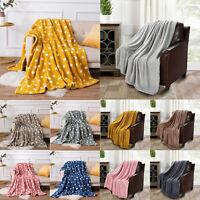 Teddy Throw Soft Warm Fleece Cuddly Sofa Bed Camping Blanket Christmas XMAS Gift