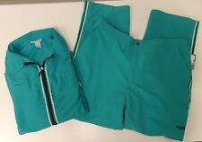 Liz & Me Sport 2Pc Jacket Pants Athletic Teal Jacket 2X 22/24W Pants 1X 18/20W