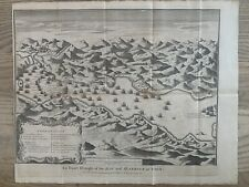 More details for 1744 battle of vigo bay, galicia, spain original antique map by isaac basire