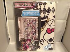 NEW Monster High Fabric Shower Curtain  (Sealed) 70 X 72 inches
