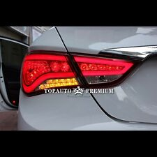 LED Tail Lights Tail Rear Lamps For Hyundai Sonata YF 2010~2013