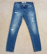 NWT Abercrombie Womens Skinny Ankle Jeans Size 2 Mid-Rise Destroyed Pants