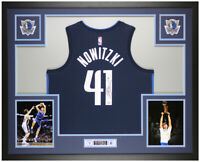 Dirk Nowitzki Autographed & Framed Blue Dallas Mavericks Jersey Fanatics COA
