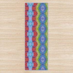 Rainbow Chakra Stripe Yoga Mat High Quality UK Design Non-Slip Rubber Base