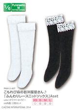 Azone Pureneemo Fluffy Lace Knit Socks A Set White & Navy Blythe Momoko Pullip