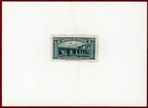 Honduras 1935 #C80, Plate Proof on Card, Mayol Bridge, ABNC