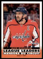 2020-21 UD O-Pee-Chee Retro League Leaders 582 Alex Ovechkin Washington Capitals