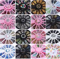 New 3D Nail Art Rhinestones Acrylic Tips Glitters Decoration Manicure Wheel U87