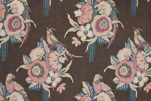 **Clarence House - Cartagena - Chocolate - 5 Metres, Upholstery Fabric**
