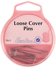 Hemline - Loose Cover Pins: Nickel 32mm 6pcs