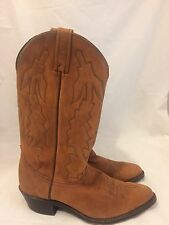 Dan Post Marlboro Western cowboy Boots Men Size 9 D Brown Suede Leather