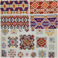 1920s DMC Cross Stitch 4th Series Folk Art Russian Peasant Borders Aztec