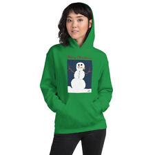 Christmas Snowman Hoodie Hooded Sweatshirt (Hattrick Novelties) (Green)