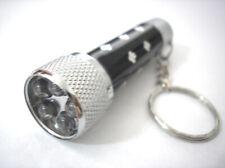 "LED Key Chain Flashlight Ultra Glow Light Black 2.5"""