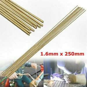 10x Brass Brazing Solution Welding Flux Cored Rods Low Temperature Wire Rod Set