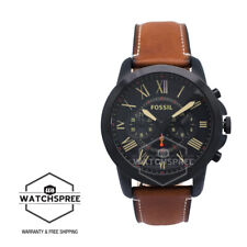 Fossil Men's Grant Chronograph Luggage Leather Watch FS5241