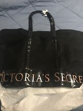 Victoria's Secret Tote Bag Shopper Handbag Carry-All Weekender Limited Black New