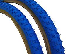 "Kenda Comp 3 III old school BMX skinwall gumwall tires 26"" X 2.125"" BLUE (PAIR)"