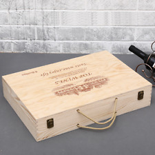 1x Wood Red Wine Holder Six Bottles Gift Box Bar Accessories Whiskey Carries Box