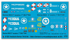 1/72 decals for 5 Sherman The FFF in the Normandy No 1 2051