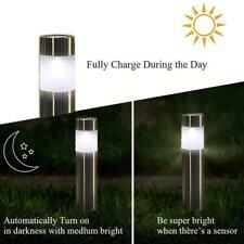 Solar Bollard Post Lights Garden Driveway Outdoor LED Lighting Lampe