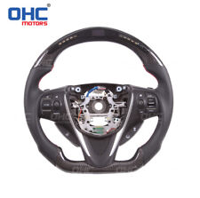 Real Carbon fiber +LED Display Steering Wheel for Acura RDX TLX RLX MDX ILX NSX