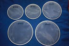 Alesis DM8 electronic Drum Kit Conversion au blanc résille têtes X 5 Pièce Set