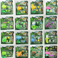 Cute Plants vs Zombie Actionable Dolls PVZ Peashooter and Zombie Game Set Toys