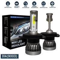 H4 9003 HB2 LED Headlight Bulb Fog Light Kit 6000K VS Xenon HID White MINI 2Pcs