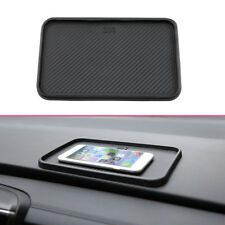 200x128mm Car Interior Dashboard Non-Slip Mat Catcher Pad Carbon Fiber Black