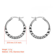 316L Stainless Steel Silver/Gold Hoop Earrings Fashion Women's Titanium Jewelry